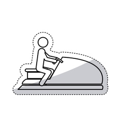 Isolated pictogram and jet ski design vector