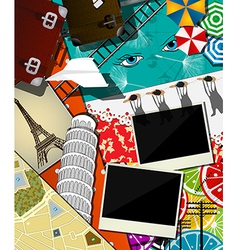 Travel abstract collage vector