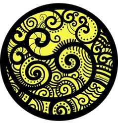Decorative round vector