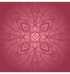 Vegetable dark pink flower ornament vector image