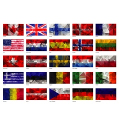 Flags of the world vector