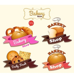 Bakery shop logo design vector