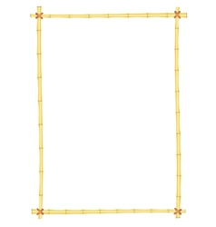 Bamboo frame pattern vector