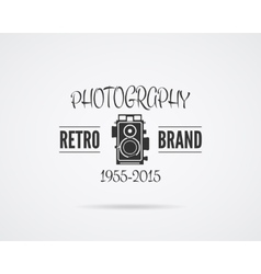 Vintage photography badge label monochrome vector