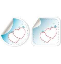 sticker love hearts vector image