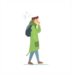 Guy In Green Parka vector image
