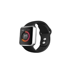 Silver smart fitness watch vector