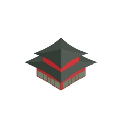 Pagoda in south korea icon isometric 3d style vector
