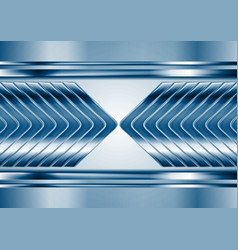 Abstract blue metal tech arrows background vector