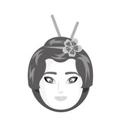 Beautiful geisha japan character vector