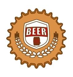beer cap emblem icon image vector image vector image