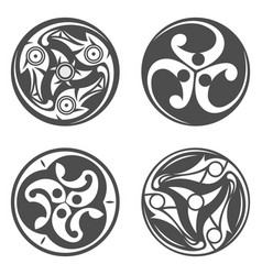 celtic spiral ornament geometric vector image