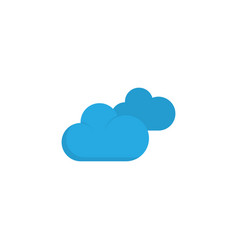 clouds flat icon symbol premium quality isolated vector image