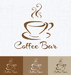 Coffee shop logo design template retro style vector