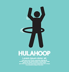 Human Playing A Hulahoop Symbol vector image