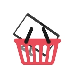 Isolated basket shopping vector image