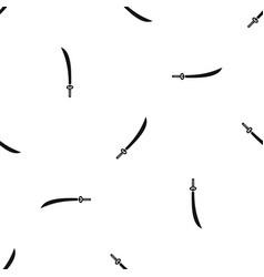 Katana pattern seamless black vector