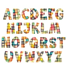 Mosaic cartoon alphabet vector