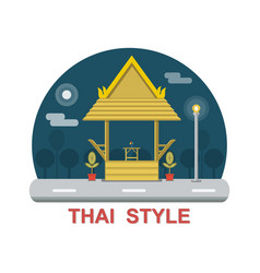 Rest area thai style vector