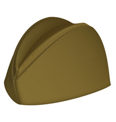 Russian khaki retro military hat vector