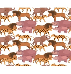 Seamless background with jungle animals vector image vector image