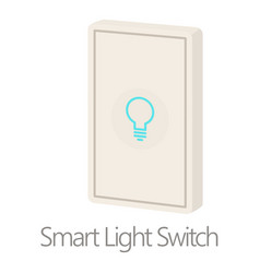 smart light switch icon cartoon style vector image