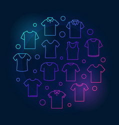 T-shirt colored round tshirt vector