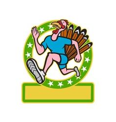 Turkey run runner side cartoon vector