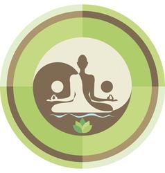Yoga and zen background vector