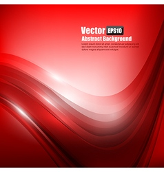 Abstract background ligth red curve and wave vector