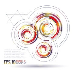 Geometric circle elements scientific future vector