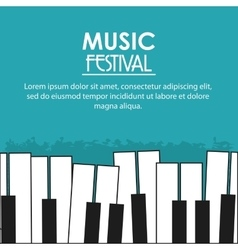 Piano music sound media festival icon vector