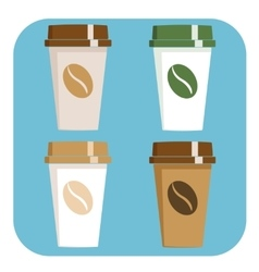 Take away coffee sign icon vector