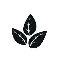 Eco icon leaf vector