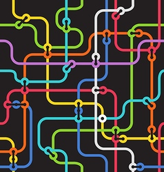 Seamless background of abstract metro scheme vector image