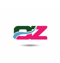 Letter o and z logo vector