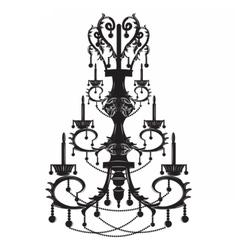 Baroque elegant wall lamp with ornaments vector