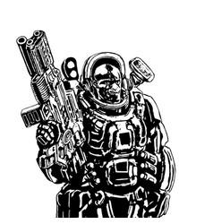 heavy space marine vector image