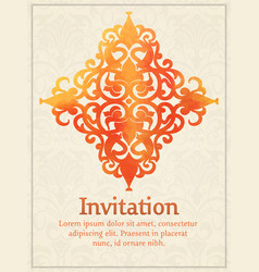 invitation card with watercolor vector image