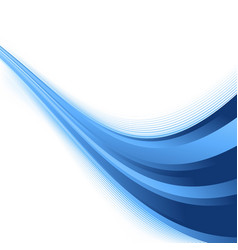 Futuristic abstract rising swoosh blue wave vector