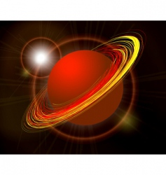 Saturn planet illustration on black vector image