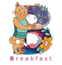 B breakfast vector image