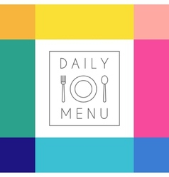 Daily menu design template vector