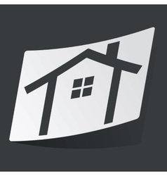Monochrome cottage sticker vector