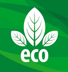 Eco logo in the form of leaf vector