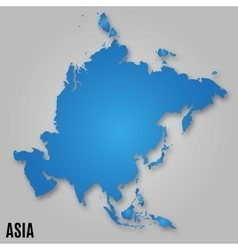 Asia political map card paper vector