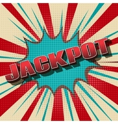 Jackpot comic retro background vector
