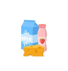 Common dairy products vector image