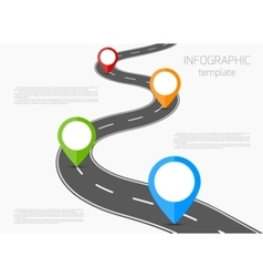 Road infographic vector