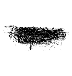Grunge brush stroke ink vector